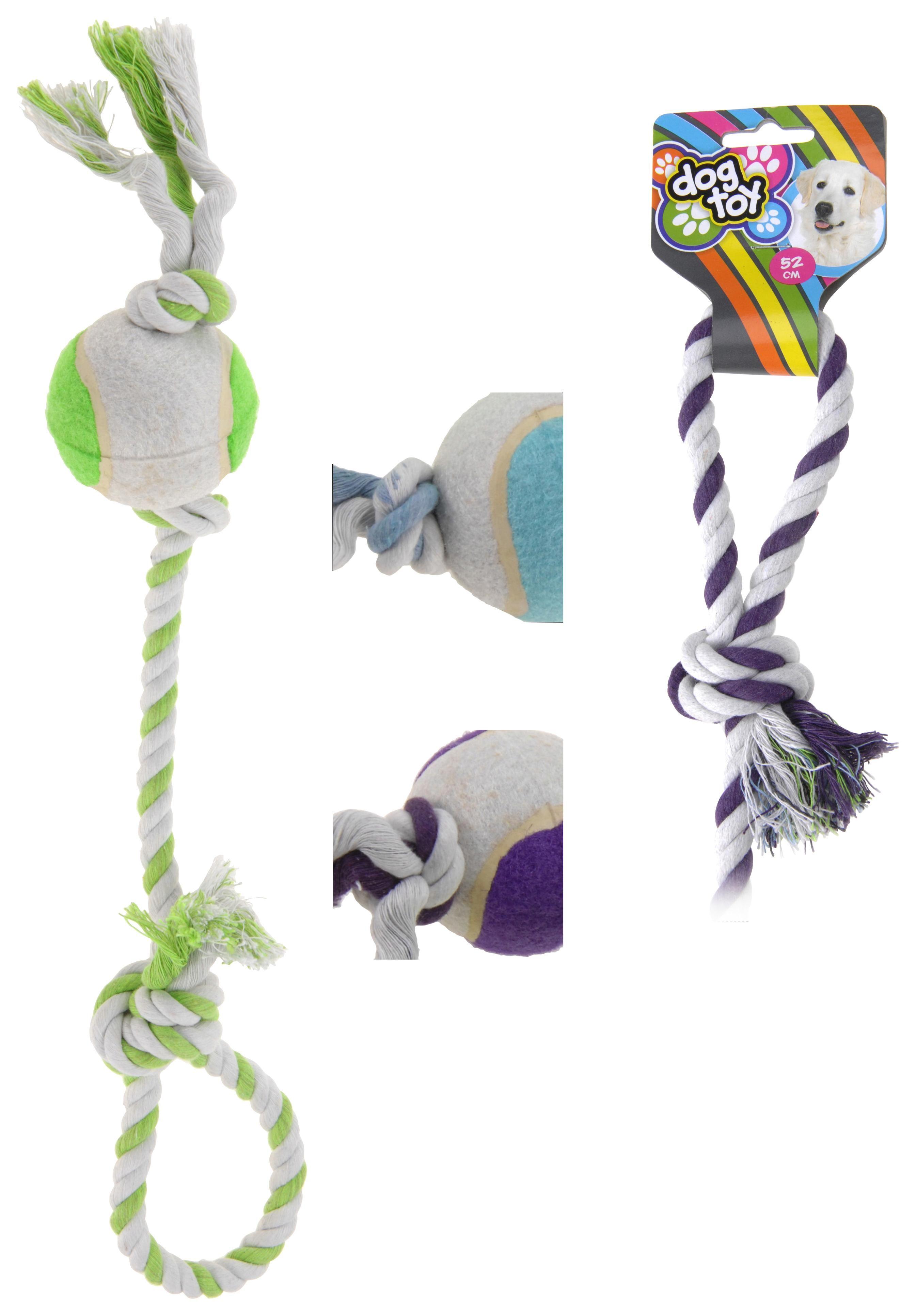 Hundespielzeug Spike - Blau/Violett, Basics, Kunststoff/Textil (52cm)