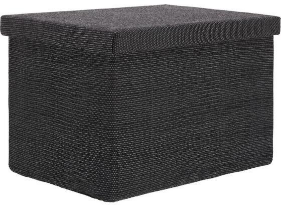 Skladací Box 'cindy' -ext- - antracitová, Moderný, plast/papier (38/24/26cm) - Mömax modern living