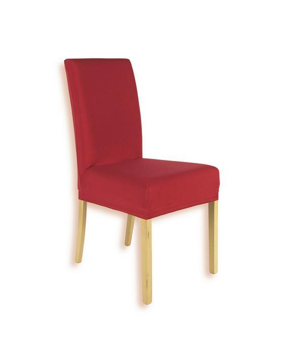 Stretch-Stuhlhusse Adelisa - Rot, KONVENTIONELL, Textil - Ombra