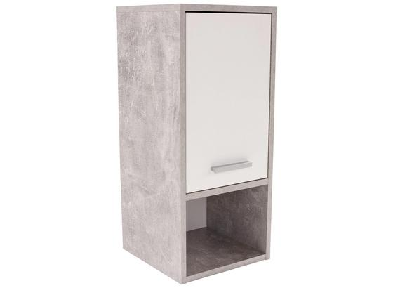 Závesná Skrinka Attack - biela/svetlosivá, Moderný, kompozitné drevo (32/68/28cm)
