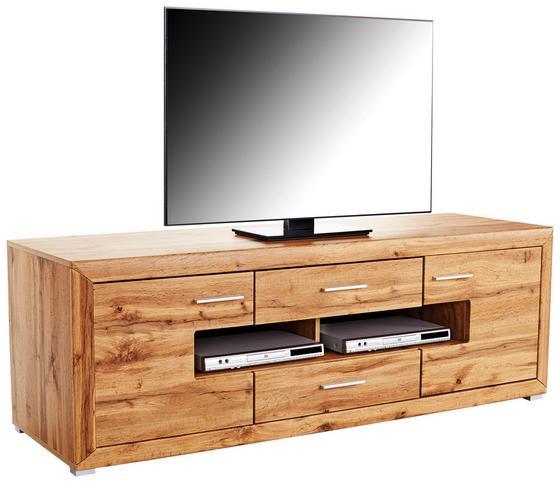 Tv Díl Tizio - barvy dubu, Moderní, kompozitní dřevo (180/59,6/49,5cm)