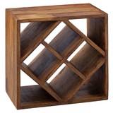 Weinregal B: ca. 40 cm Sheeshamfarbe - Sheeshamfarben, MODERN, Holz (40/40/25cm) - Livetastic