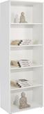 Regál Josef 6 - bílá, Moderní, dřevěný materiál (60/185,6/30cm)