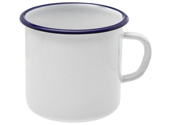 Šálka Leni - modrá/biela, kov (8cm)