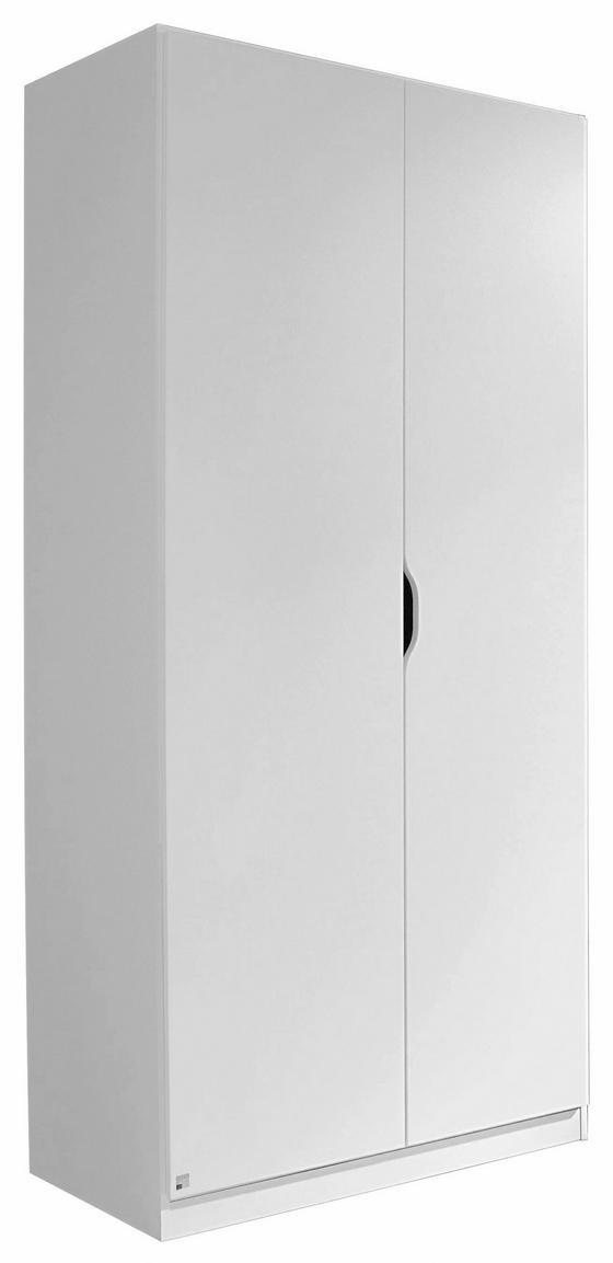 Drehtürenschrank Freising 91 cm Weiß - Weiß, MODERN, Holzwerkstoff (91/197/54cm)