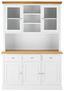 Kredenc Brigitte - biela/farby pínie, Moderný, kov/drevo (131/192/44cm) - Modern Living