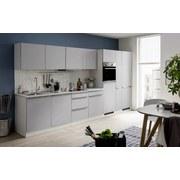 Küchenblock Venedig 1051.6248 B390cm - Hellgrau/Weiß, Design, Holzwerkstoff (390/200/60cm) - MID.YOU