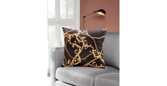 Zierkissen Gianni - Goldfarben/Schwarz, ROMANTIK / LANDHAUS, Textil (45/45cm) - James Wood
