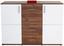 Kommode Ina 03 - Eichefarben/Weiß, MODERN, Holzwerkstoff (132,2/95,1/38,3cm)