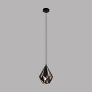 Hängeleuchte Carlton 1 - Schwarz/Kupferfarben, MODERN, Metall (20,5/110cm)