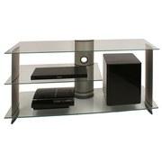 Phonotisch Subuso B: 120 cm - Klar/Silberfarben, KONVENTIONELL, Glas/Metall (120/56/40cm) - Livetastic