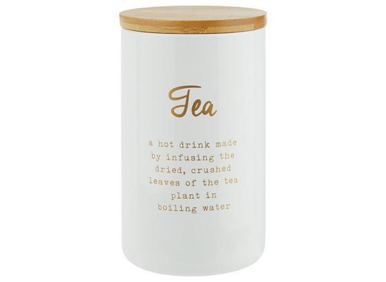 Dóza Na Potraviny Fiona - Tea - bílá/měděné barvy, Lifestyle, kov/dřevo (8/13cm) - Zandiara