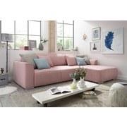 Ecksofa mit Schlaffunktion + Bettkasten Lazy Ecke, Webstoff - Pink/Hellrosa, Design, Holzwerkstoff/Textil (206/294cm) - Carryhome