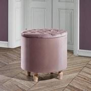 Taburet Rosalie - ružová, Moderný, drevo/textil (50/50cm) - Mömax modern living