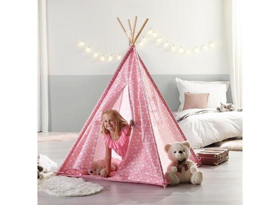 Hrací Stan Mariano - růžová, Moderní, dřevo/textilie (125/154/125cm) - Modern Living