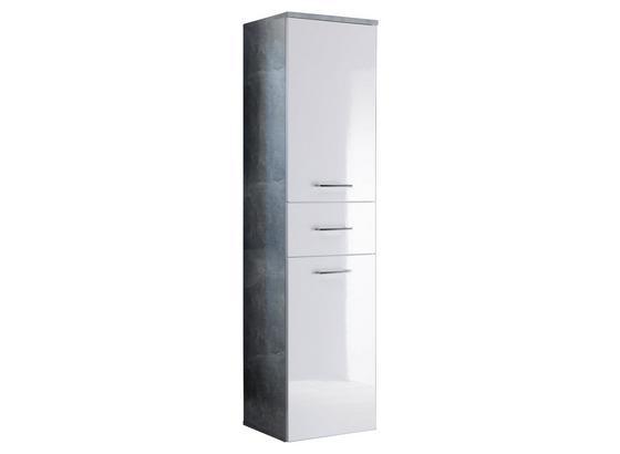 Hochschrank Hängend O. Stehend Splash B: 40cm - Hellgrau/Weiß, Design, Holzwerkstoff (40/160/35cm)