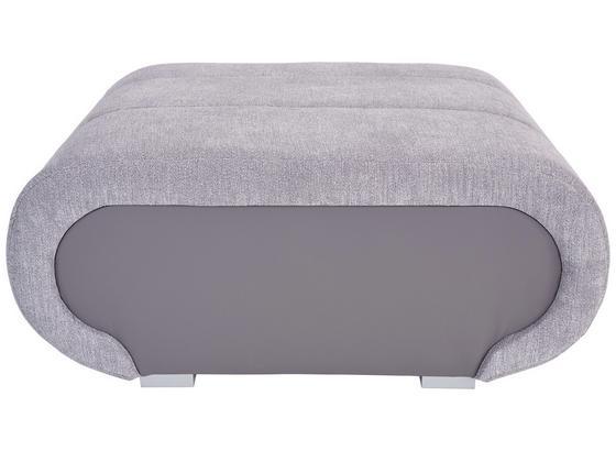 Lounge Taburet Carisma - šedá, Moderní, kov/dřevo (100/42/66cm) - Ombra