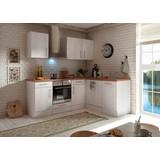Küchenblock Premium B: 220 cm Lärche Weiß - Eichefarben/Weiß, MODERN, Holzwerkstoff (220/211/172cm) - MID.YOU