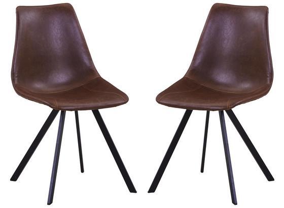 Stuhl-Set 2-Er Set Braun - Schwarz/Braun, Basics, Textil/Metall (50/84,5/61,5cm)