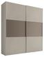 Schwebetürenschrank Includo 167cm Sand/umbra - Sandfarben/Taupe, MODERN, Holzwerkstoff (167/222/68cm)