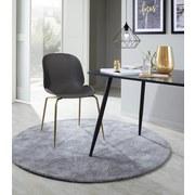 Stuhl Cannes B: 47 cm Grau - Goldfarben/Grau, MODERN, Kunststoff/Metall (46/85/60cm) - Luca Bessoni