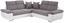 Wohnlandschaft in L-Form Logan 270x270 cm - Dunkelgrau/Silberfarben, KONVENTIONELL, Holz/Textil (270/270cm) - Ombra