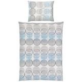 Bettwäsche Tonella - Blau/Grau, MODERN, Textil - LUCA BESSONI