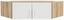 Nástavec Na Skříň Ke 2 Dv.rohové Skříni  Wien - bílá/barvy dubu, Konvenční, dřevěný materiál (120/39/54cm)