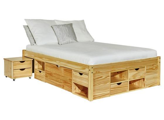 Stauraumbett Claas 140x200 Kiefer Massiv - Naturfarben, Basics, Holz (140/200cm) - Livetastic