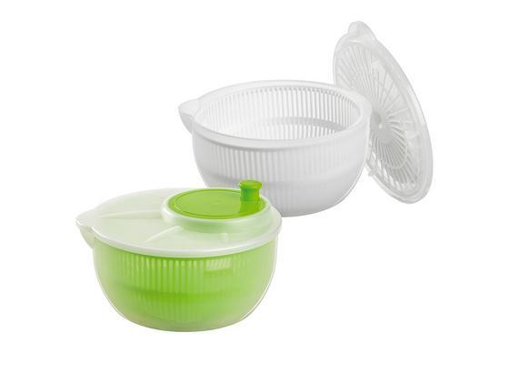 Odstreďovač Na Šalát Sandy - biela/zelená, plast (23,5/11,5cm) - Mömax modern living