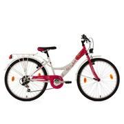 Kinderfahrrad Kinderrad 24'' Cherry 621k - Rosa/Weiß, Basics, Metall (180/70/80cm)