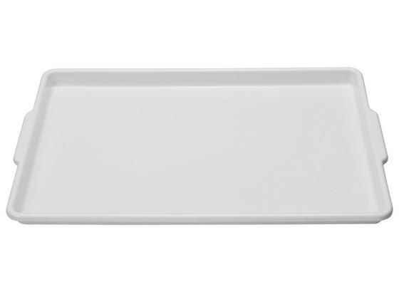 Tablett 50x33cm - Blau/Weiß, KONVENTIONELL, Kunststoff (33/3/50cm)