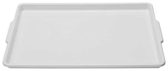 Tablett Kunststoff - Blau/Weiß, KONVENTIONELL, Kunststoff (33/3/50cm)