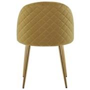 Stuhl Artdeco B: 51 cm Dunkelgelb - Goldfarben/Dunkelgelb, MODERN, Textil/Metall (51/79/58cm) - Luca Bessoni