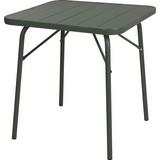 Gartentisch Metall L 70 cm - Dunkelgrün, Basics, Metall (70kg)
