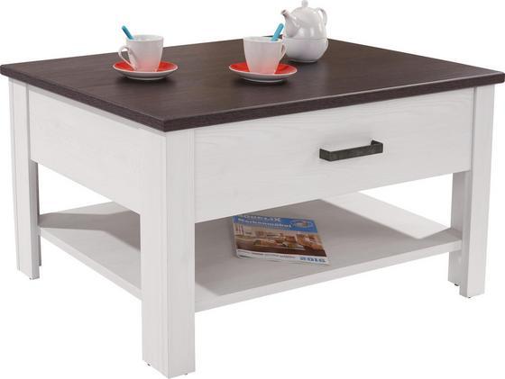 Dohányzóasztal Provence - fehér/wenge színű, romantikus/Landhaus, faanyagok (105/70/50,5cm) - JAMES WOOD