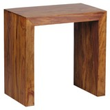 Beistelltisch Mumbai Sheeshamholz Massiv - Sheeshamfarben, Design, Holz (60/35/60cm) - Livetastic