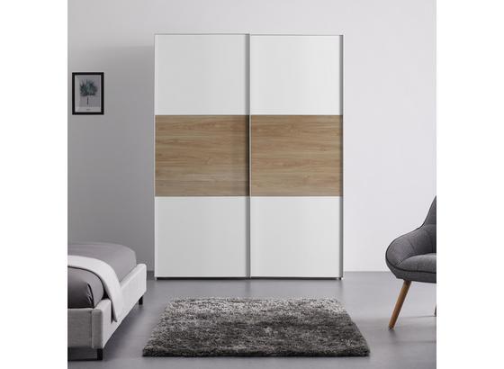 Schwebetürenschrank 167 cm Includo - Eichefarben/Weiß, MODERN, Holzwerkstoff (167/222/68cm)