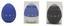 Óra Tojás Formájú - fekete/kék, konvencionális, műanyag (6/7,5/6cm)