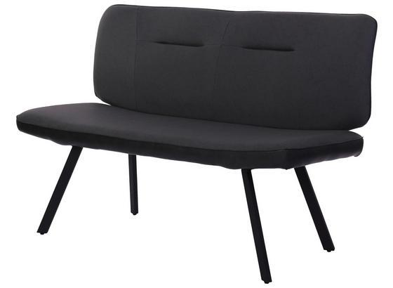 Sitzbank Scott Grau - Schwarz/Grau, MODERN, Textil/Metall (142/92,5/66cm)
