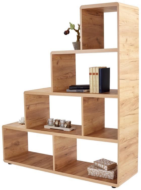 Regál Fontana Ftr03 - barvy dubu, Moderní, dřevěný materiál (138,5/148/35cm)
