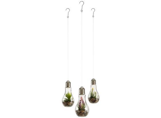 Led Dekoračná Lampa Bettina - plast/kameň (9/9/18cm)