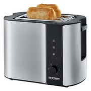 Automatik-toaster At 2589 - Silberfarben/Schwarz, MODERN, Metall (26,5/19,5/18cm) - SEVERIN