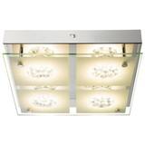 LED-Deckenleuchte Treviso - Chromfarben, MODERN, Glas/Metall (25/25/6cm)