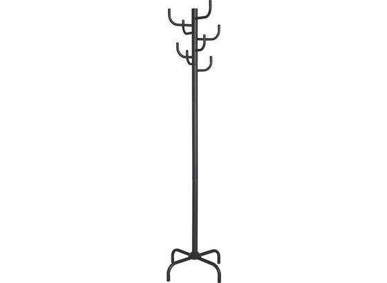 Ruhaakasztó Fogas Cactus - Fekete, modern, Fém (47/180/47cm)