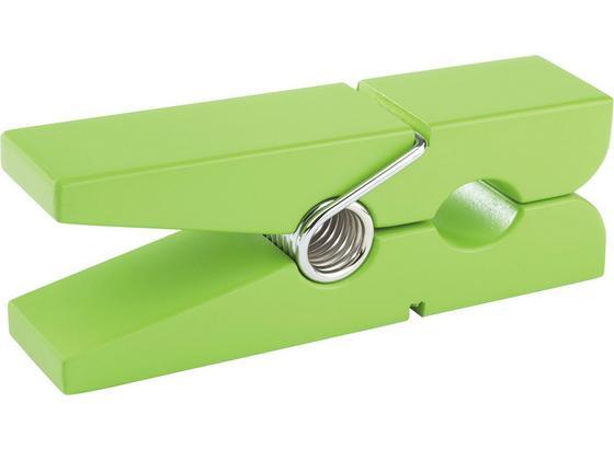 Držiak Na Stenu Gams Zelený - zelená, Konvenčný, kompozitné drevo (20/5/7,5cm)