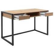 Schreibtisch mit Stauraum B 120cm H 75cm Denver 30, Eiche - Eichefarben, MODERN, Holzwerkstoff (120/75/60cm)