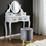 Taburet Julene - šedá, Moderní, kov/textil (39/40cm) - Modern Living