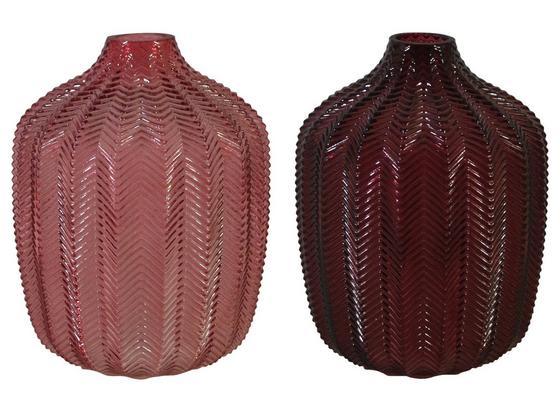 Vase Romana - Aubergine/Rosa, Design, Glas (14,5/18,5cm)