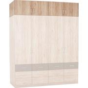 Aufsatzschrank Aalen Extra B:181cm San Remo Eiche Dekor - Eichefarben, KONVENTIONELL, Holzwerkstoff (181/39cm)
